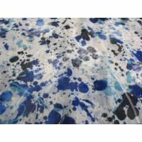 Chiffon mit Stickerei - Pusteblume weiß -  blau Töne (1m/14,-€) Bild 1