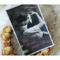 Valentinstag, romantische Grußkarte, Valentinstagskarte mit Spruch & Briefumschlag. Bild 1