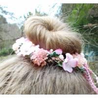 Haarschmuck, Blumenkränzchen, Kommunion, rosa Kopfschmuck, Kranz für ´s Haar, 2 Bild 1