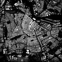 Stadtplan AMSTERDAM - Just a Black Map I Digitaldruck Stadtkarte citymap City Poster Kunstdruck Stadt Karte Bild 3