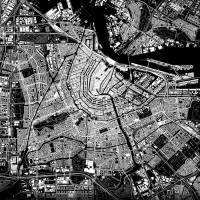Stadtplan AMSTERDAM - Just a Black Map I Digitaldruck Stadtkarte citymap City Poster Kunstdruck Stadt Karte Bild 4