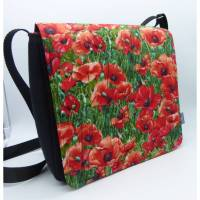 Messenger Bag Mohnblumen
