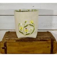 Frühlingskörbchen - Utensilo - Aufbewahrung - Geschenkbeutel Bild 1