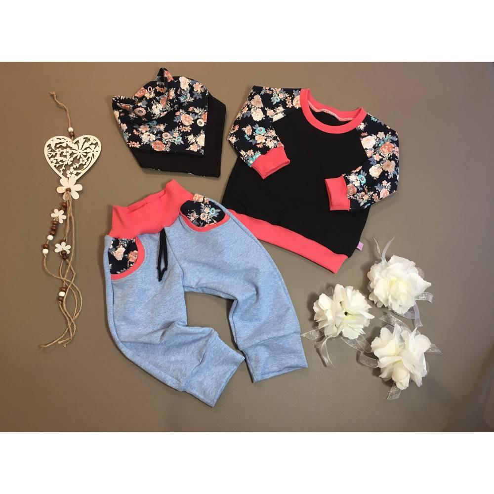 Langarmshirt mit passender Hose und Tuch, einzeln, in Kombination oder im ganzen Set, Größe 74/80 Bild 1