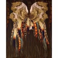 Jersey Panel Federn Flügel Indianer Stenzo Digital 150x150 cm  Bild 1