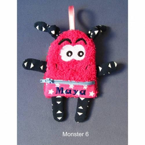 Monster - Taschenmonster - Sorgenmonster - mit Reissverschluss