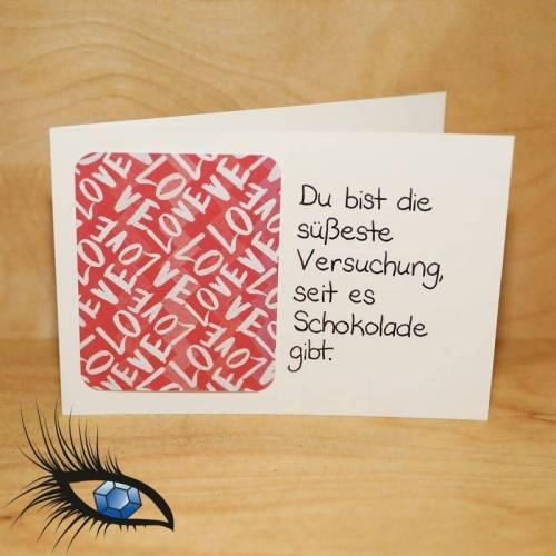 "[2019-0304] Klappkarte ""Du bist Versuchung"" - handgeschrieben"
