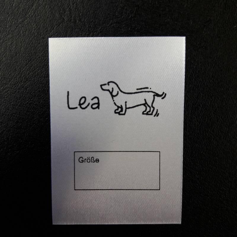Textiletiketten Hund Bild 1