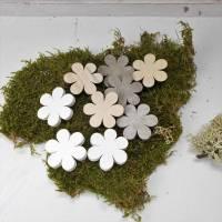 Dekomaterial, 24 Stück, Blüten aus Holz, Blumen, Streuteile, Material, Bild 1