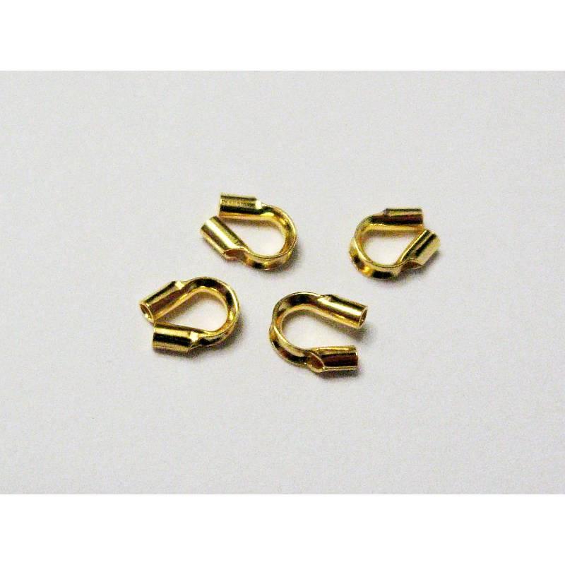 Drahtschutz, Wireguardian Silber 925 vergoldet 6 Stück Bild 1