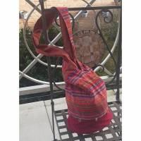 Japanische Knotentasche, Schultertasche, Handtasche, Shopper Bild 1
