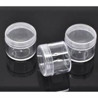 6 Aufbewahrungs-Dosen, Schraubverschluss, 4cm,, Perlenbox, Perlen, basteln, 11989 Bild 1