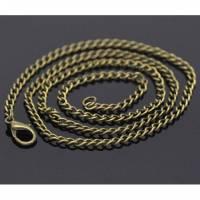 1 / 12 Gliederkette, 51cm, bronze,Gliederketten, Ketten, Metallketten, Halsketten, Karabinerverschluss., 14106 Bild 1