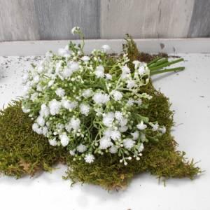 Schleierkraut weiß, 6 Stück, künstlich, Floristikbedarf