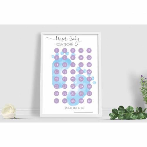 Schwangerschaft, Baby - Countdown Poster, Schwangerschaftskalender