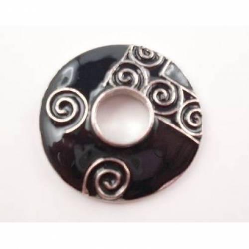 Scheibe für Wechselschmuck ,Scheibe, Wechselscheibe, Metallscheibe, Muster,24mm, 022