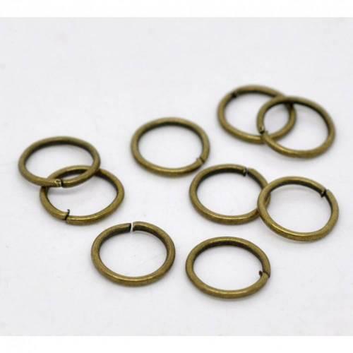 100 / 1000 Biegeringe,Verbindungsringe, 6 mm, bronzefarben