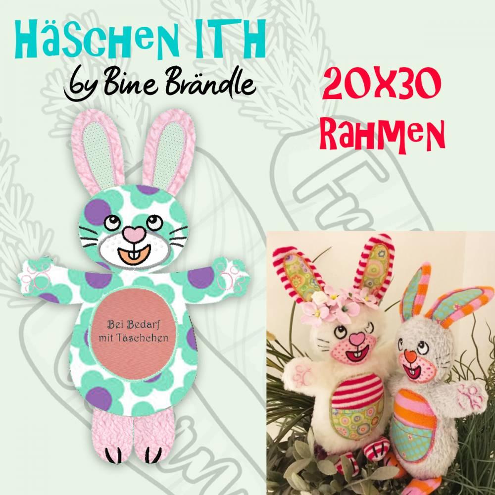 1 x Stickdatei ITH *freches Häschen* aus der Osterserie by Bine Brändle -20x30 Rahmen Bild 1