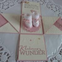 Explosionsbox, Geburt, Taufe, Mädchen, Geldgeschenk, rosa Bild 1