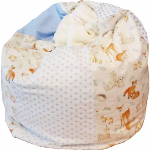 Babykissen Füchse, Kindersitzsack 56