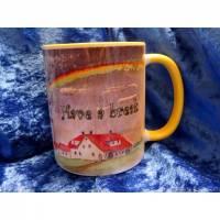 Tasse mit Motivdruck und Schriftzug Have a break, have a tea