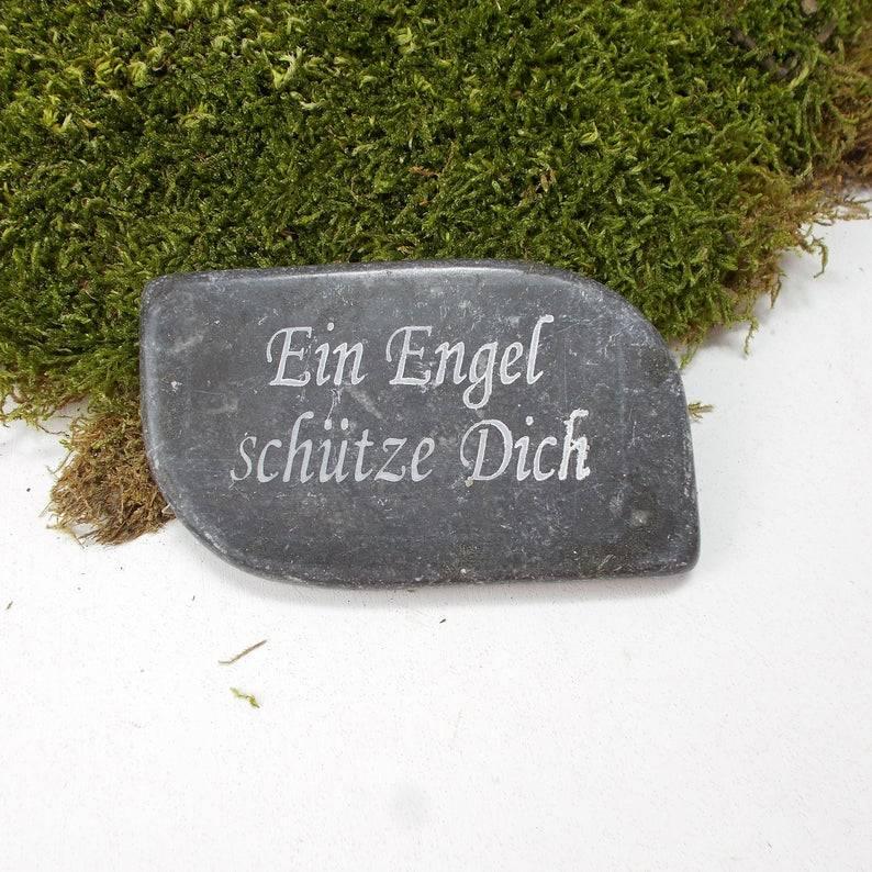 Grabdekoration, kleine Marmorplatte, Spruchplatte, Dekoplatte für Grabgestecke, Floristikbedarf, 3 Bild 1