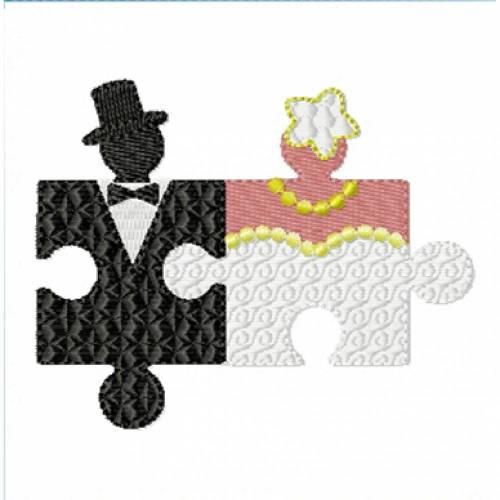 Stickdatei Hochzeitspuzzle