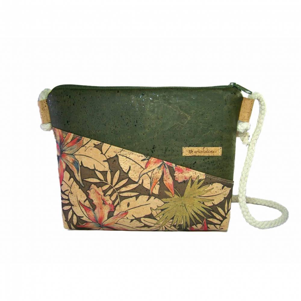 Handmade Damen Korktasche Crossbag Crossbody Bag Umhängetasche Designwahl nachhaltig vegan und fair Bild 1