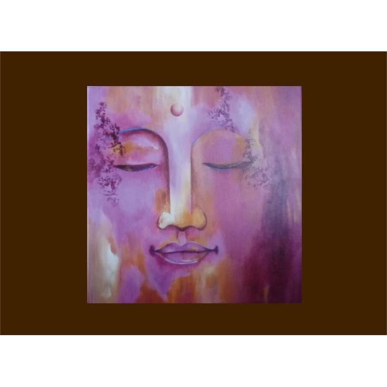 Buddha Leinwanddruck Buddha rosa art print Geschekidee Bild 1