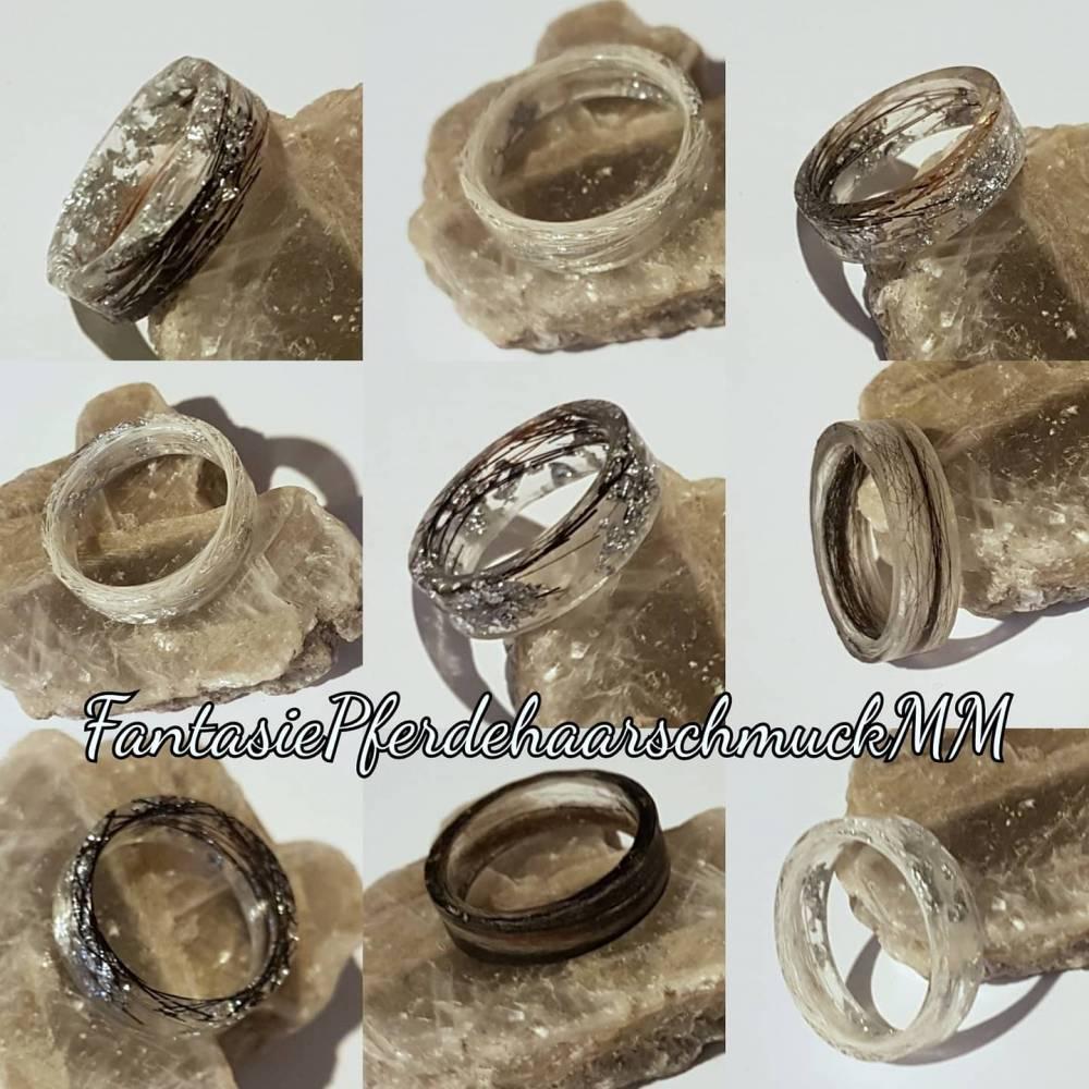 Pferdehaar Ring Tierhaar Ringe epoxy resin Ring  Bild 1