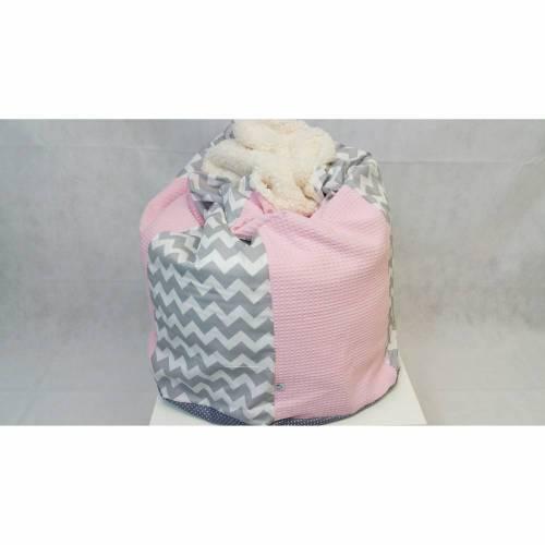 Babykissen rosa, ZickZack, Kindersitzsack 42