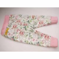 Öko-Baby Leggings Frühlingshaften pastelfarbene Blumen, Pilze, Blätter Motiv Pumphose  62-68 Bild 1