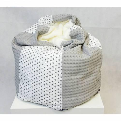 Babykissen Sternchen, grau, Kindersitzsack 45