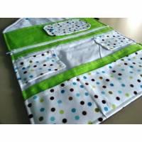 Windeltasche deluxe, weiß, grün-graue Punkte, WTD 29 Bild 1