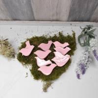 Dekomaterial, Vögel aus Holz, rosa, Vogel, Streuteile, Material, Bild 1
