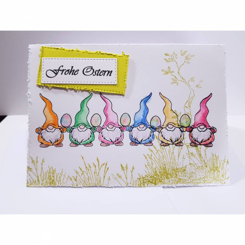 Osterkarte Wichtel Grußkarte Ostern Osterei  Bild 1