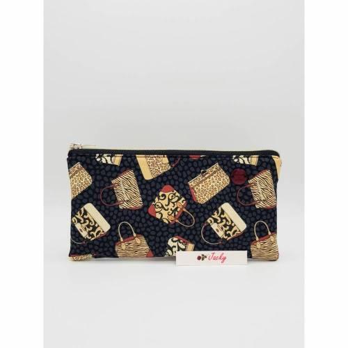 Clutch edle Handtaschen, schwarz-grau