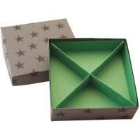 Schachtel mit Unterteilung, Geschenkschachtel, Aufbewahrungsschachtel Bild 1
