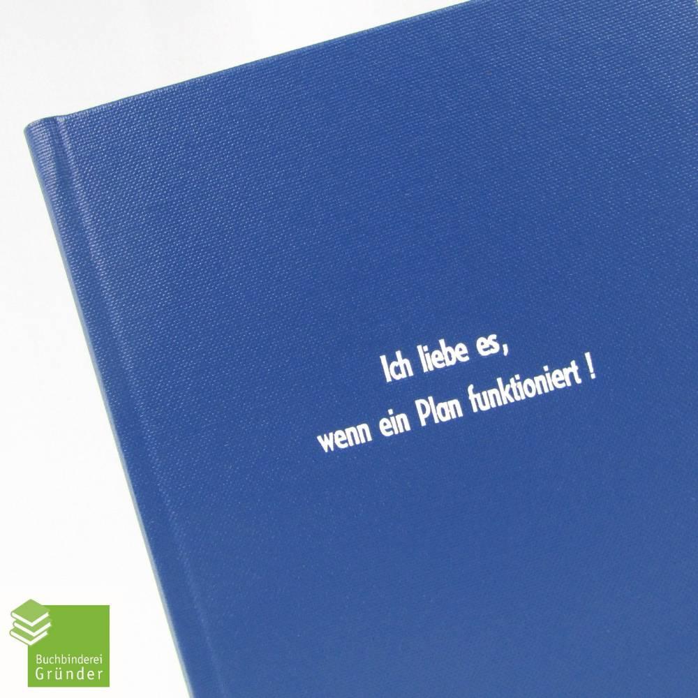 Notizbuch, DIN A5, Ich liebe es wenn ein Plan funktioniert, hell-blau, 100 Blatt Bild 1