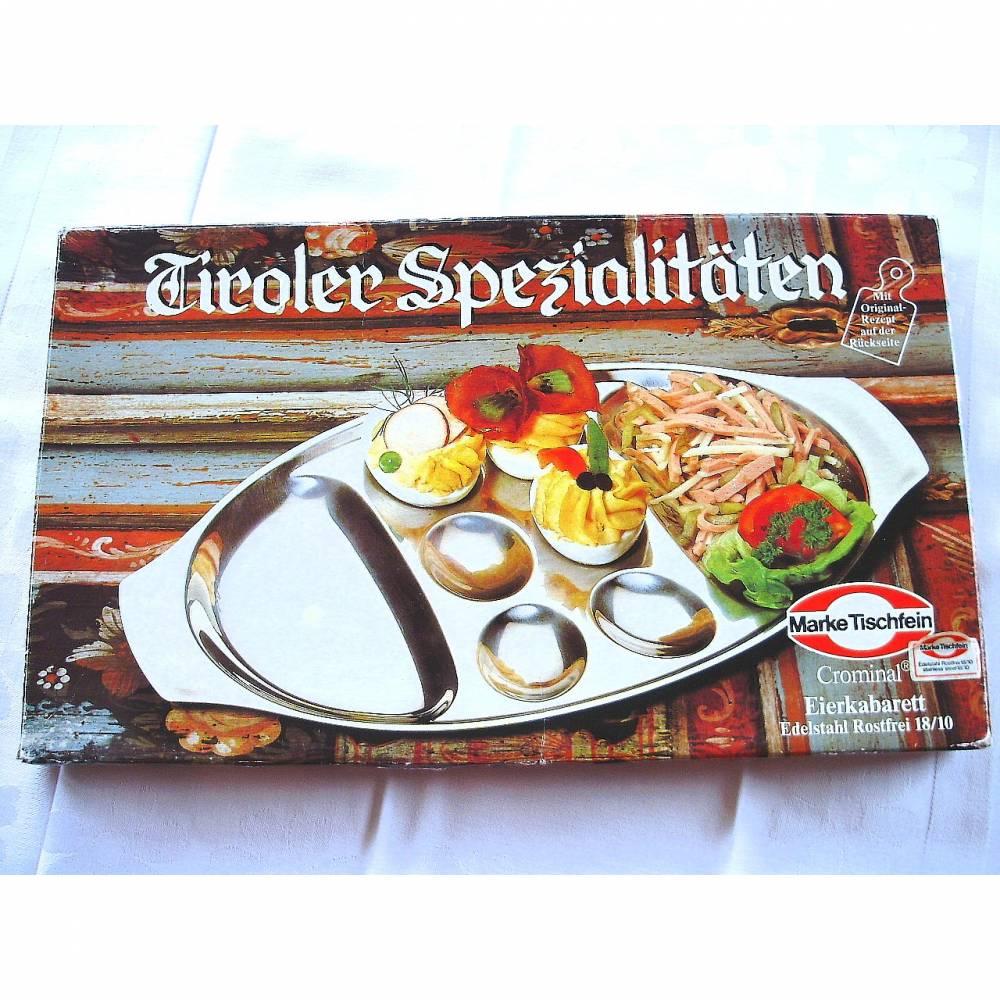 Vintage Eierkabarett Tiroler Spezialitäten aus den 70er Jahren Bild 1