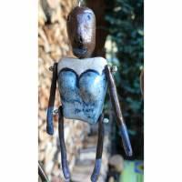 """Keramik-Figur """"Lady in Blue"""" in Geschenkbox mit Schuber - Geldgeschenk Bild 1"""