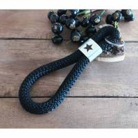 Schlüsselanhänger aus Segeltau Maritim, Schlüssel Mann Bild 1