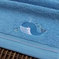 Waschlappen mit Stickerei Wal ***personalisiert mit Namen*** Bild 1