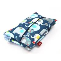 Windeltasche für Babys aus 100 % Baumwolle | Für Jungen und Mädchen: Mit Elefanten Bild 1