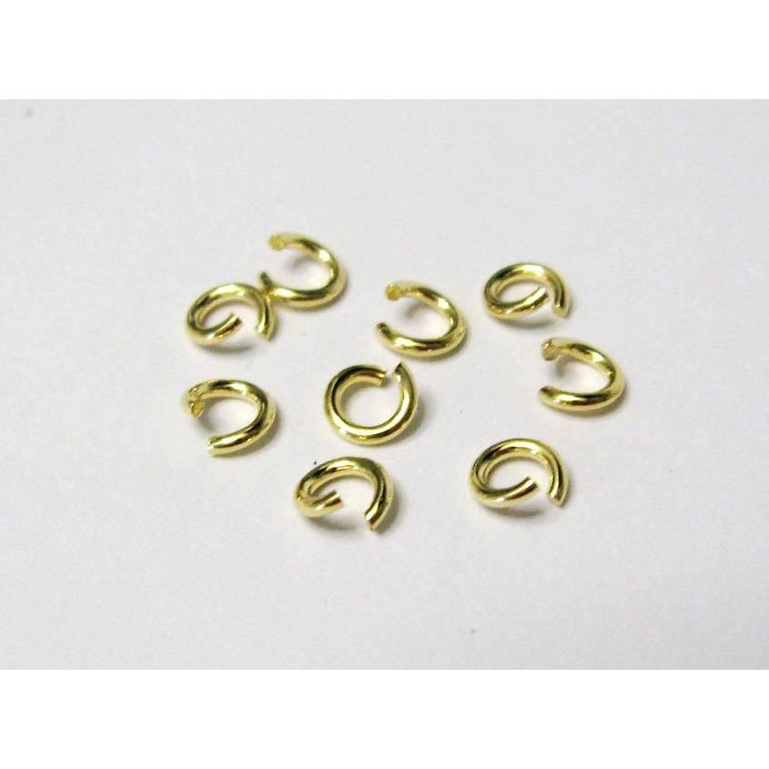 5 Stück Biegering  offen 5 mm aus 925 Sterling Silber vergoldet Bild 1