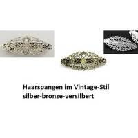 Haarspange, Vintage, Ornamennt,versilbert,bronze ,antiksilber, bronzefarben, silberfarben, Haarschmuck, zum Verzieren Bild 1