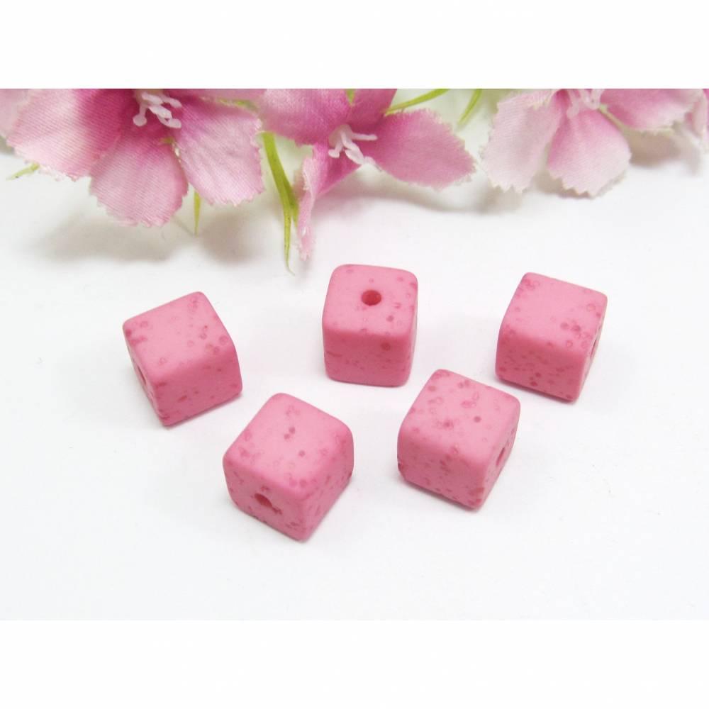 5 Polariswürfel Gala Sweet 8mm, Farbe pink Bild 1