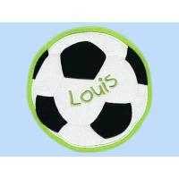 Applikation XXL-Fußball-Aufnäher 16 cm Wunschname Bild 1