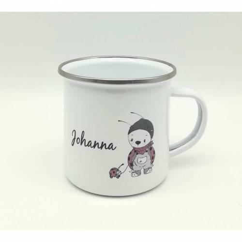 """Tasse mit Namen personalisiert Motiv """"Glückskäfer"""""""