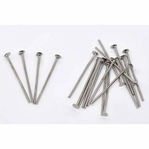 300 Nietstifte,Metallstifte silber, silberfarben, Perlen auffädeln, 50mm